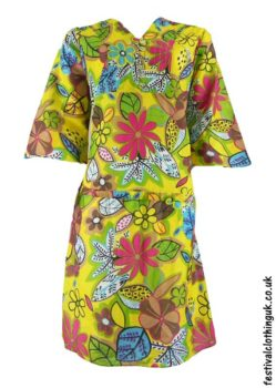 Multicoloured-Retro-Festival-Dress-Yellow