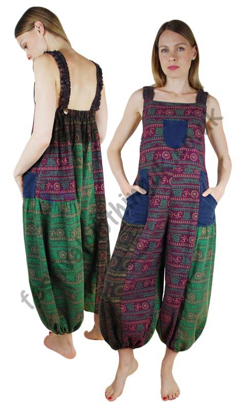 Patchwork-Festival-Dungarees-with-Om-Print-Example