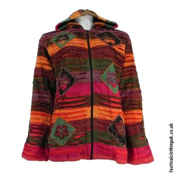 Pixie-Hooded-Fleece-Lined-Festival-Jacket-Red