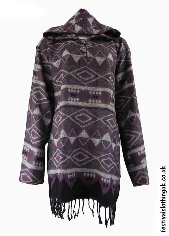 Purple-Hooded-Acrylic-Festival-Dress