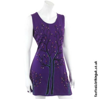 Purple Tree of Life Festival Dress