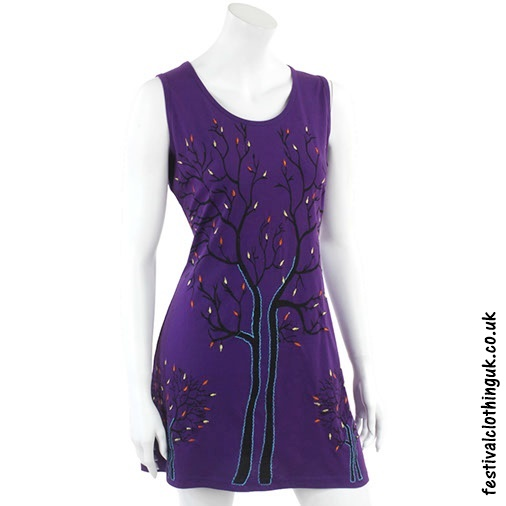 Purple Tree of Life Festival Dress