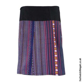 Short-Cotton-Festival-Wrap-Skirt-Blue
