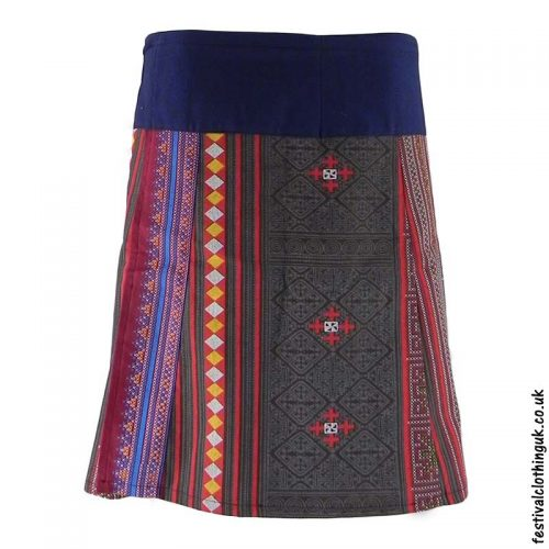 Short-Cotton-Festival-Wrap-Skirt-Grey