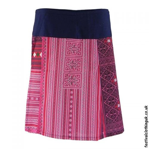 Short-Cotton-Festival-Wrap-Skirt-Pink