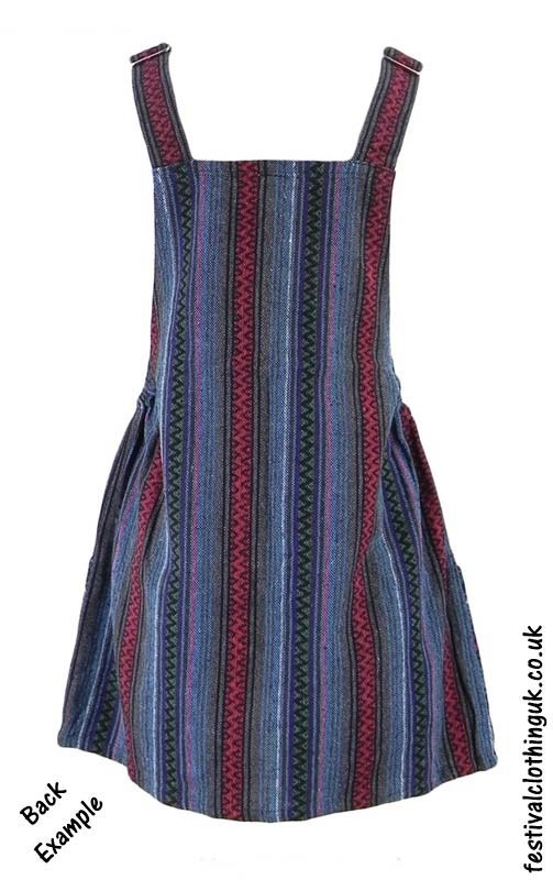 Short-Cotton-Weave-Festival-Dress-Back-Example
