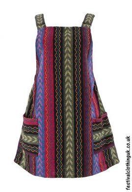 Short-Cotton-Weave-Festival-Dress-Multicolour