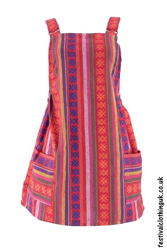 Short-Cotton-Weave-Festival-Dress-Pink