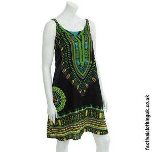 Short-Dashiki-Festival-Dress-Black-Green