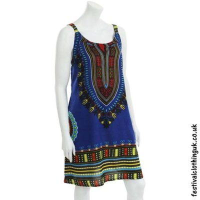 Short-Dashiki-Festival-Dress-Blue