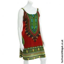 Short-Dashiki-Festival-Dress-Red
