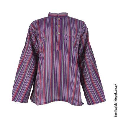 Striped-Collarless-Festival-Grandad-Shirt-Colour-mix