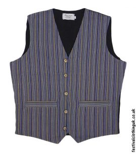 Striped-Cotton-Festival-Waistcoat-Blue-Yellow