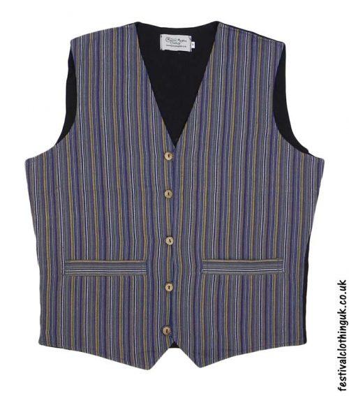 Striped-Cotton-Festival-Waistcoat-Blue-Yellow
