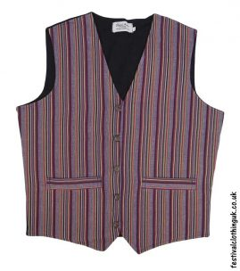 Striped-Cotton-Festival-Waistcoat-Burgundy