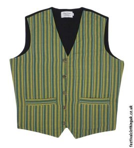 Striped-Cotton-Festival-Waistcoat-Green