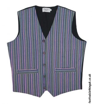 Striped-Cotton-Festival-Waistcoat-Green-Blue