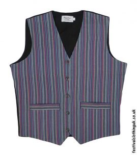 Striped-Cotton-Festival-Waistcoat-Green-Burgundy