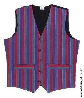 Striped-Cotton-Festival-Waistcoat-Purple-Red