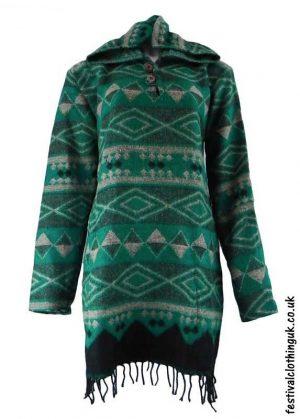 Teal-Hooded-Acrylic-Festival-Dress
