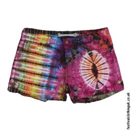 Tie-Dye-Denim-Festival-Shorts-Pink