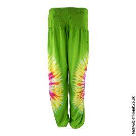Tie-Dye-Harem-Festival-Pants-Green