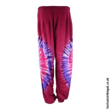 Tie-Dye-Harem-Festival-Pants-Red-Pink