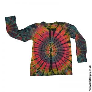 Tie-Dye-Long-Sleeve-Festival-T-Shirt-Multicoloured