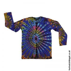 Tie-Dye-Long-Sleeve-Festival-T-Shirt-Multicoloured