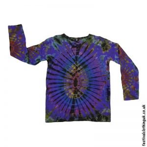 Tie-Dye-Long-Sleeve-Festival-T-Shirt-Purple