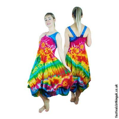 Wearing Tie Dye To A Festival - Ruffle Dress