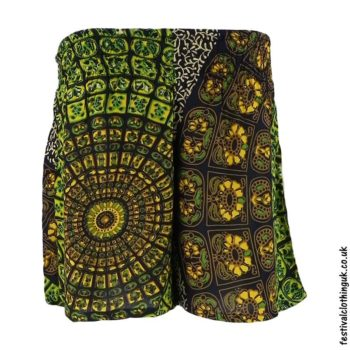 f830e1c0d Unisex Batik Rayon Shorts – Green
