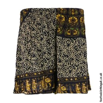 Unisex-Batik-Festival Shorts-Yellow