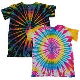 Short Sleeve Tie Dye Tops