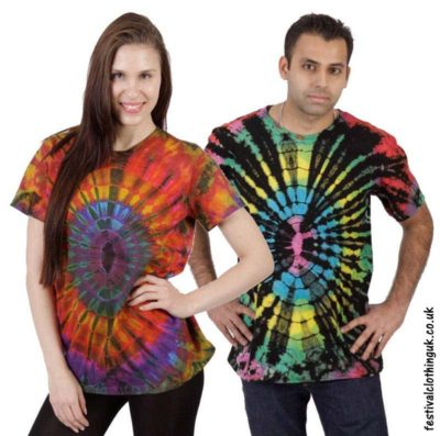 Short Sleeve Tie Dye Festival Tops