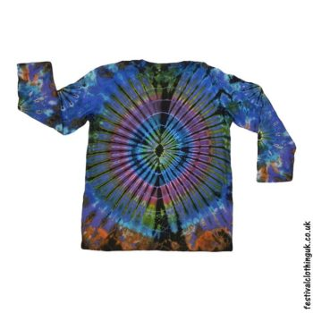 Tie-Dye-Long-Sleeve-Festival-T-Shirt-Blue