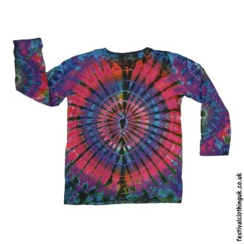 Tie-Dye-Long-Sleeve-Festival-T-Shirt-Electric