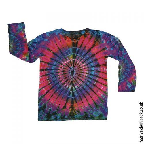 Tie-Dye-Long-Sleeve-Festival-T-Shirt-Electric