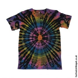 Tie-Dye-Short-Sleeve-Festival-T-Shirt-Black