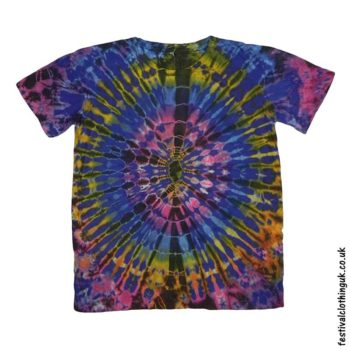 Tie-Dye-Short-Sleeve-Festival-T-Shirt-Blue