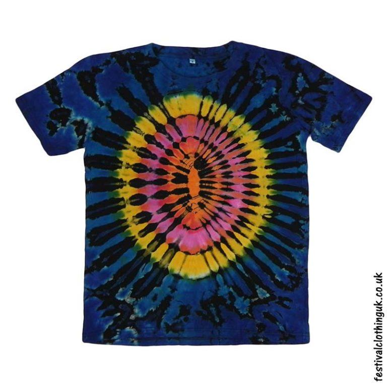 Tie-Dye-Short-Sleeve-Festival-T-Shirt-Blue