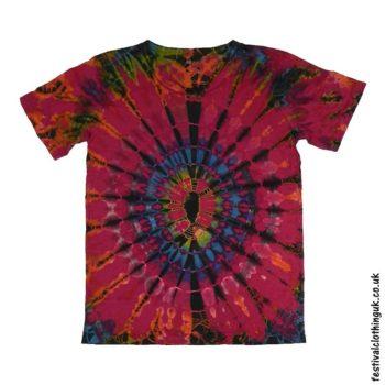 Tie-Dye-Short-Sleeve-Festival-T-Shirt-Pink