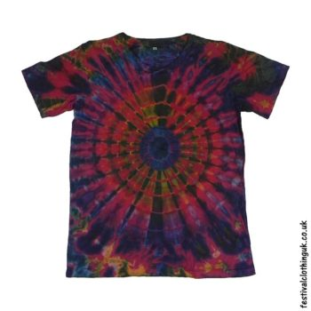 Tie-Dye-Short-Sleeve-Festival-T-Shirt-Purple
