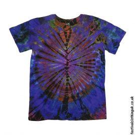 Tie-Dye-Short-Sleeve-Festival-T-Shirt-Purple