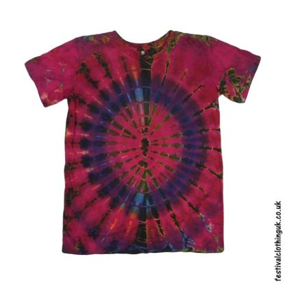 Tie-Dye-Short-Sleeve-Festival-T-Shirt-Red