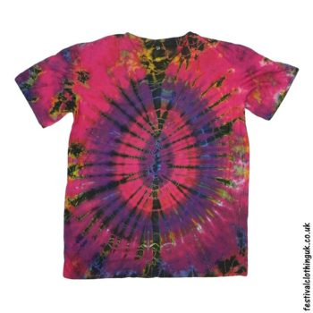 Tie-Dye-Short-Sleeve-Festival-T-Shirt-Red