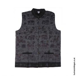 Collared-Embroidery-Waistcoat-Charcoal