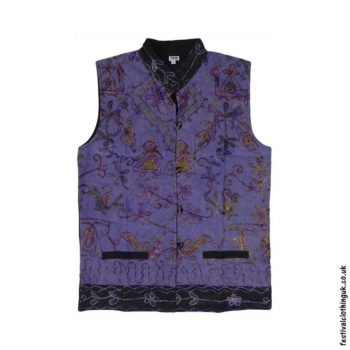 Collared-Embroidery-Waistcoat-Purple