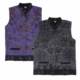 Collared Embroidery Waistcoat