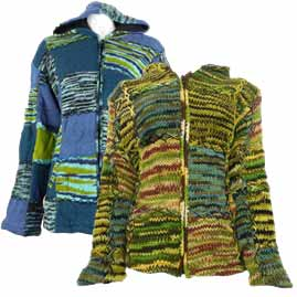 Patchwork Wool Jackets